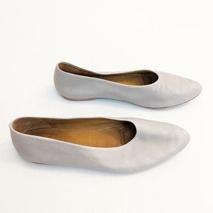 Coclico Gray Pril Leather Salon Shoes Flats 38 7.5